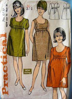 Nostalgia 70s, Size 16, Sewing Patterns, Maternity, Summer Dresses, Vintage, Fashion, Moda, Summer Sundresses