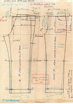 c 39 hom la braguette jean avec fg c 39 sur mesure trousers making resources technical. Black Bedroom Furniture Sets. Home Design Ideas