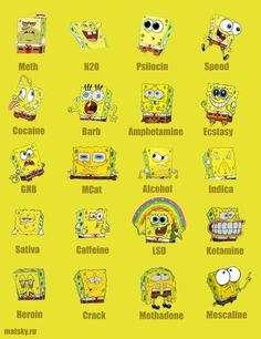 spongebob on drugs....or someone you know