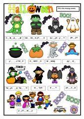 Halloween Crossword Puzzle worksheet - Free ESL printable worksheets made by teachers