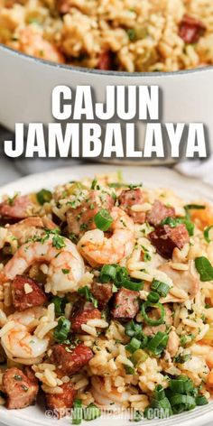Try this easy and healthy Jambalaya recipe when everyone is craving something different. Serve it up with a crusty loaf of French bread and some pineapple coconut cake for dessert! #spendwithpennies #jambalaya #entree #recipe #cajun #shrimp #chicken #sausage #homemade #best #spicy Creole Recipes, Cajun Recipes, Fish Recipes, Seafood Recipes, Great Recipes, Chicken Recipes, Dinner Recipes, Cooking Recipes, Sausage And Shrimp Recipes