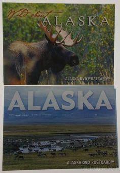 Lot 2 DVD Postcards Wild About Alaska Bull Moose Caribou Wildlife Refuge Eagles
