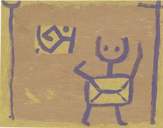 Paul Klee  Untitled(child and kite) c. 1940