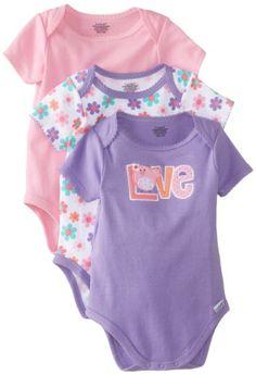Lamaze Baby-Girls Newborn Girls 3 Pack Bodysuits, Bird, 3-6 Months Lamaze