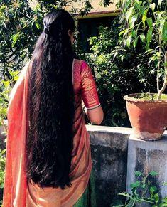 Long Silky Hair, Long Dark Hair, Super Long Hair, Open Hairstyles, Indian Hairstyles, Indian Long Hair Braid, Desi Girl Image, Beautiful Women Over 40, Hair Girls