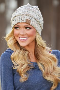 Slouchy Melange Knit Beanies from Closet Candy Boutique
