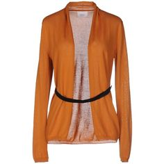 Jucca Cardigan ($92) ❤ liked on Polyvore featuring tops, cardigans, ochre, jucca, orange top, orange cardigan, cotton cardigan and lightweight cotton cardigan