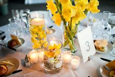 wedding table number & centerpiece