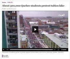 Une vidéo de la manif du 22 mars a Montreal sur Al Arabiya News