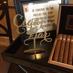 Cigar Bar Sign Cigar Bar Table Sign Cigar by PSWeddingsandEvents