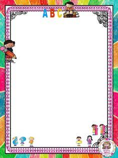 ESCUELA Page Borders, Borders And Frames, Math Border, School Leaving Certificate, School Border, Thankful Tree, Book Background, School Clipart, School Themes