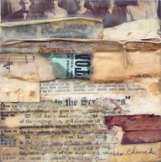 Crystal Neubauer collage encaustic
