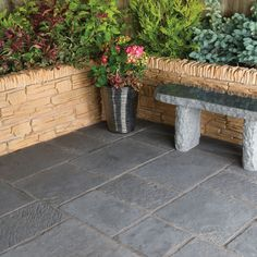 Graphite Minster Paving Patio Pack (L)2.4 (W)2.4m Pack of 33, 5.76 m² | Departments | DIY at B&Q