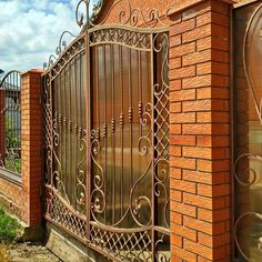 Жаркий цвет... Ворота и калитка от Art Ferrum