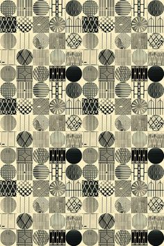 black and white pattern design by lie dirkx, via Flickr