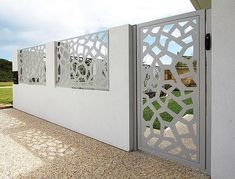 There are lots of stuff that can as a final point full a person's backyard, House Fence Design, Front Gate Design, Modern Fence Design, Balcony Railing Design, Door Gate Design, Modern Entrance Door, Entrance Gates, Front Gates, Front Yard Fence