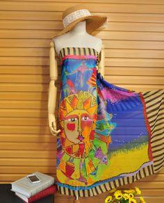 Fashion Beach Silk Scarf for Girls