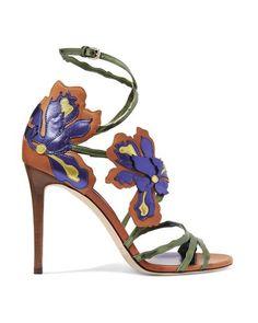 44748d925 Purple Lolita Appliquéd Metallic Leather Sandals by Jimmy Choo (Lyst)