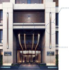 University Architecture, Hotel Architecture, Residential Architecture, Architecture Design, Modern Entrance Door, Entrance Design, Facade Design, Restaurant Exterior Design, New Classical Architecture