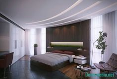 The latest pop design false ceiling for bedroom 2019 and how to choose the best option for your bedroom ceiling with plaster of paris, How to install pop ceiling design and how to finish it. Latest False Ceiling Designs, Bedroom False Ceiling Design, Design Bedroom, Bedroom Ideas, False Ceiling Living Room, Small Apartment Living, Luxury Interior Design, House Rooms, Decoration