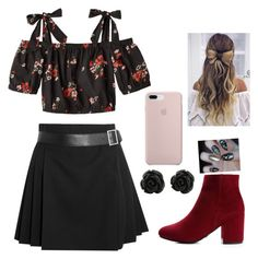 """Partay"" by ellag130 on Polyvore featuring Rebecca Taylor and Alexander McQueen"