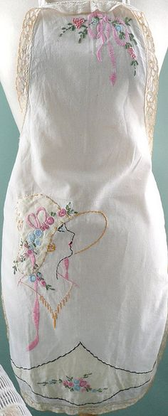 apron love  from seaside rose garden - beautiful ♥..i have a couple of these that are original and this one is really close so i pinned it