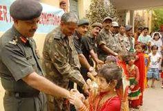 Tender Hearts School kids celebrate Rakhi festival.