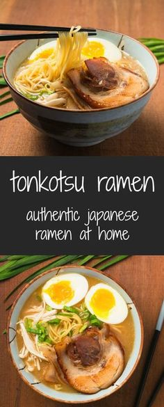 You can make ramen as good as your local ramen joint. Making tonkotsu ramen at home is truly a labour of love. This isn't some 15 minute miracle insta-ramen recipe. This isn't even some one day recipe Asian Recipes, New Recipes, Soup Recipes, Cooking Recipes, Ethnic Recipes, Japanese Food Recipes, Healthy Recipes, Healthy Ramen, Healthy Food