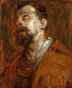Anthony van Dyck (1599–1641) - Study of a Saint (Saint Hubertus?), 1620s, oil on canvas, 49 × 37 cm. National Museum in Warsaw (MNW)
