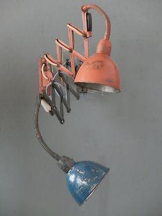 vintage orange scissor lamp from the 60s: original vintage lighting by works berlin von worksberlin auf Etsy