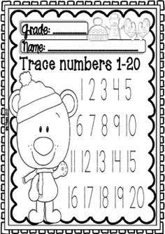 Maths and ELA WINTER Centers for Pre-k/1st Grade    -Repinned by Totetude.com