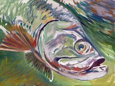 Tarpon art buy here #fishing #fishin #tarpon #saltlife #fishingart #painting… visit oscarjetson.com to see cool dog art oscarjetson.com