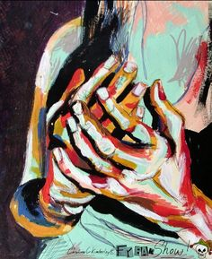 Hands Drawing, acrylic, emulsion and ink on paper, unframed. £20 free UK ship! DM @CCKimberley on Twitter to buy!