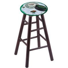 "Holland Bar Stool NHL 30"" Bar Stool with Cushion NHL Team: Minnesota Wild, Finish: Dark Cherry"