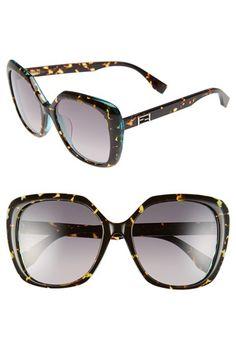 Fendi 56mm Retro Sunglasses | Nordstrom