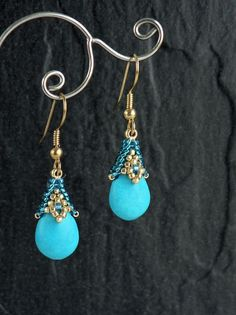 Rania  Dangle Earrings  Pattern Only  Direct Download by SamohtaC, $5.00 Excellent tutorial ~ I've made this one and it is well explained.