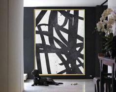 Set Of 2 Extra Large Contemporary Art Acrylic by CelineZiangArt