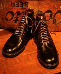 """ALDEN×BEAMS PLUS """"Munson Boots"""" (Cordvan Burgundy)"""