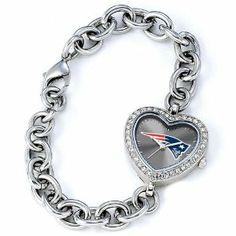 Ladies NFL New England Patriots Heart Watch Jewelry Adviser Nfl Watches. $60.00