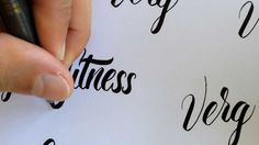 Brush Pen Lettering No.2- awesome tutorial
