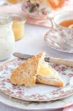 These Traditional Scones with lemon curd and clotted cream are a wonderful teatime treat.