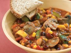 Add a dash of hot sauce to your bowl for extra heat. Use a variety of your favorite beans, if you wish, in this Slow-Cooker Veggie Chili...