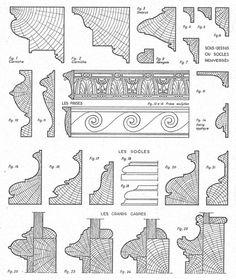 Profiles of Louis XIII moldings