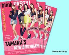 Printable Invitations, Birthday Invitations, Printables, Birthday Games, Laser Printer, Korean Music, My Photos, Bts, Kpop