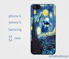samsung case iphone 4 case iphone 5 case iphone case  diy case,Tardis Doctor Who Starry Night on Etsy, $6.88