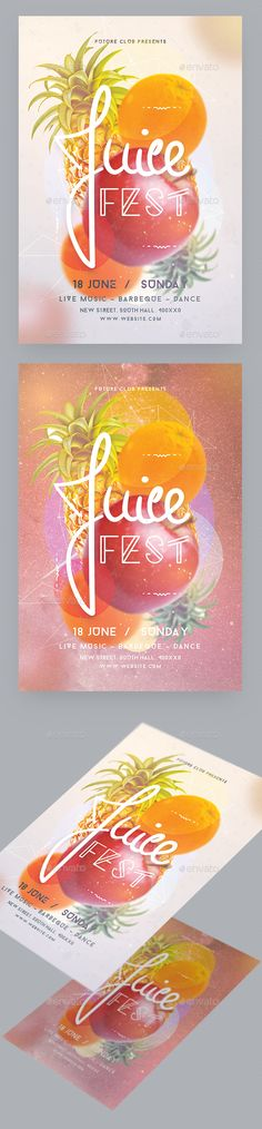 Juice Fest Party Flyer