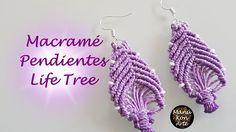 DIY Tutorial Macrame Pendientes Life Tree
