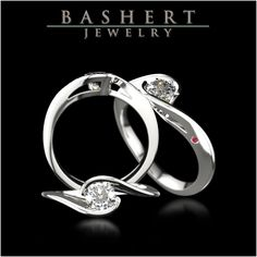 Venus - Engagement Ring  White Gold. Diamond. Tourmaline.  #Venus #Tourmaline #EngagementRing