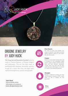 Orgone jewelry by Judy Huck Sacred Geometry Symbols, Affordable Art, Clear Quartz, Yin Yang, Framed Art Prints, Jewelry, Design, Jewlery, Jewerly