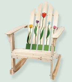 Painted Floral Adirondack Chair